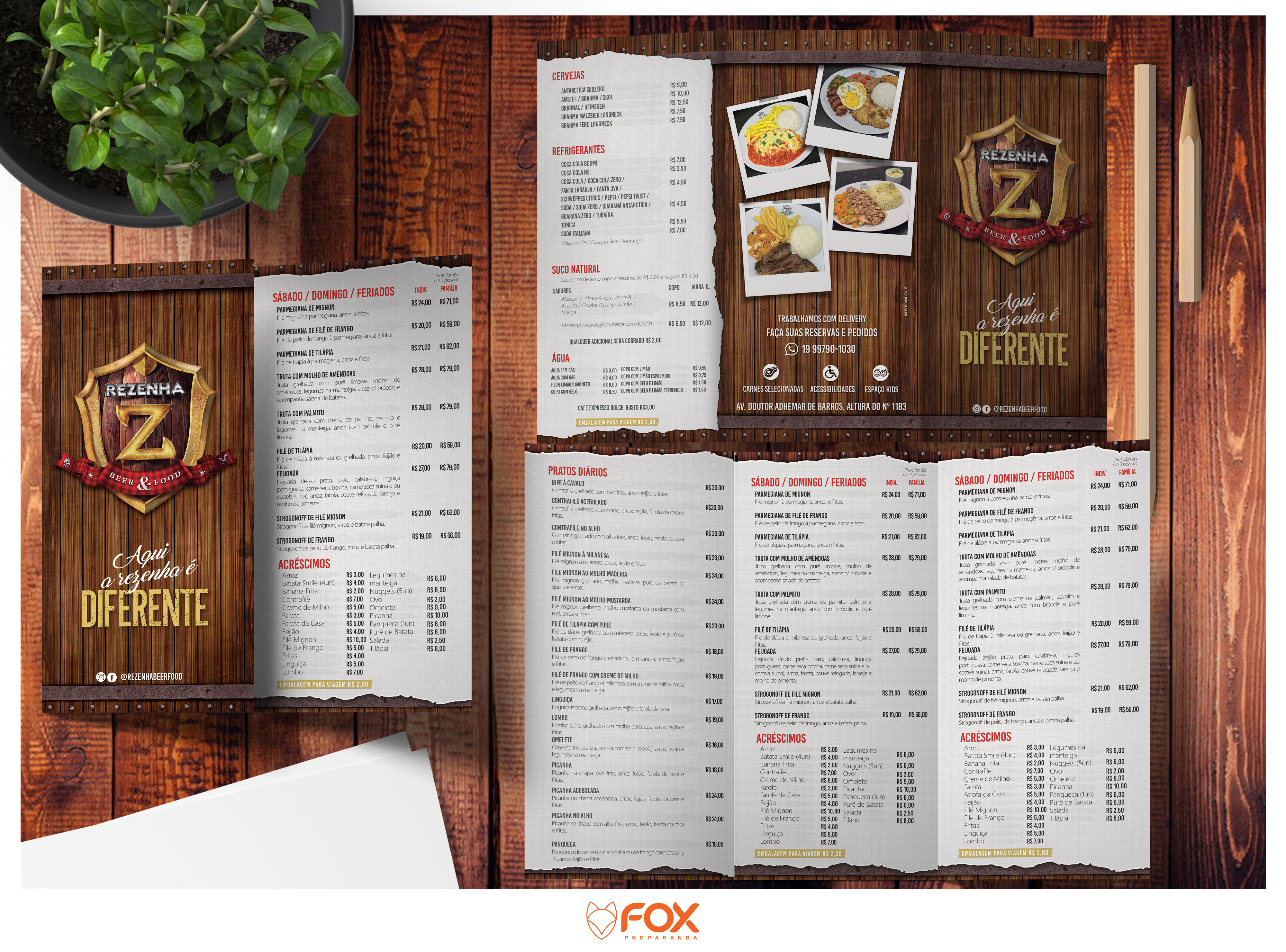 Card�pio do Rezenha Beer & Food
